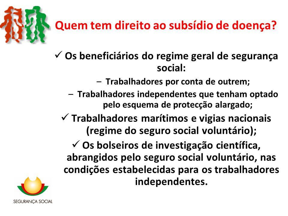 Quem tem direito ao subsídio de doença