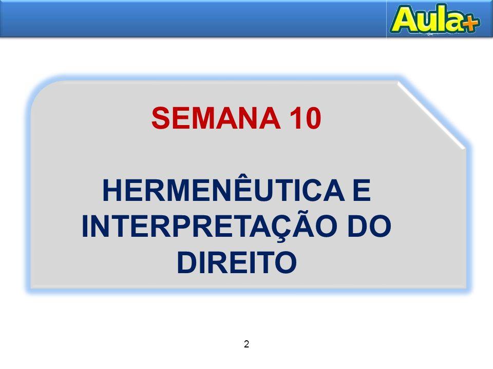 HERMENÊUTICA E INTERPRETAÇÃO DO DIREITO