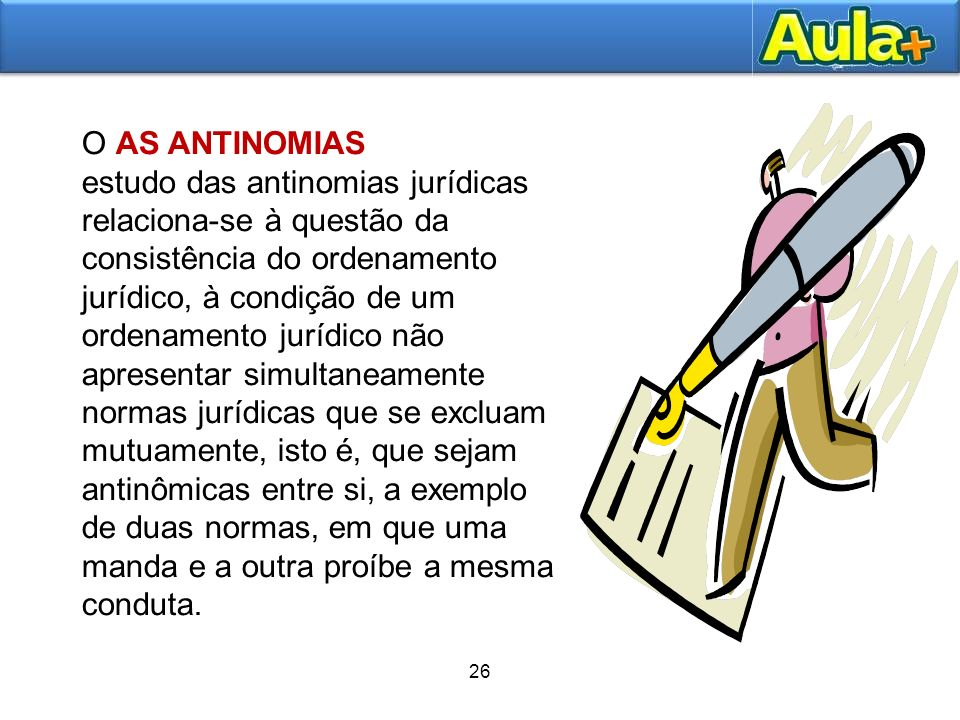 O AS ANTINOMIAS