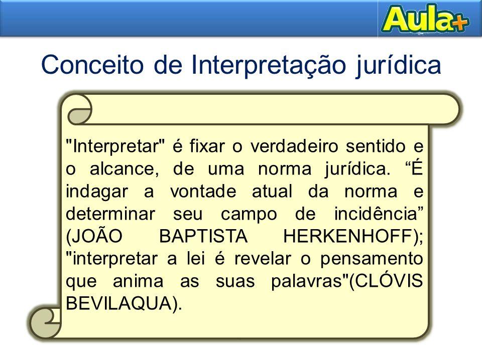 Conceito de Interpretação jurídica