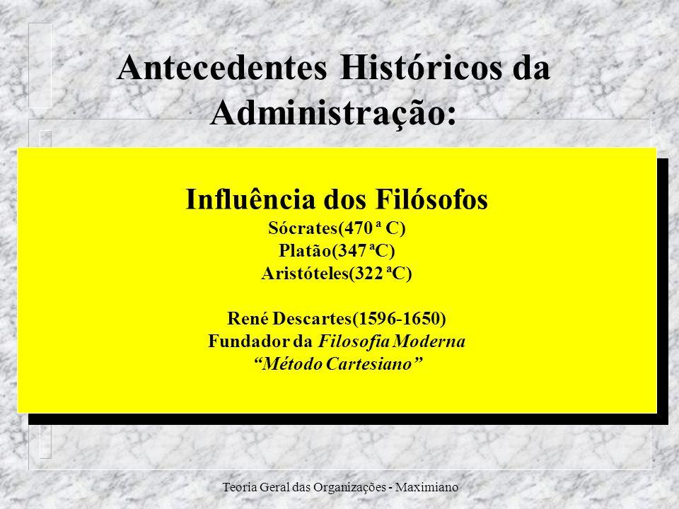 Antecedentes Históricos da Administração: