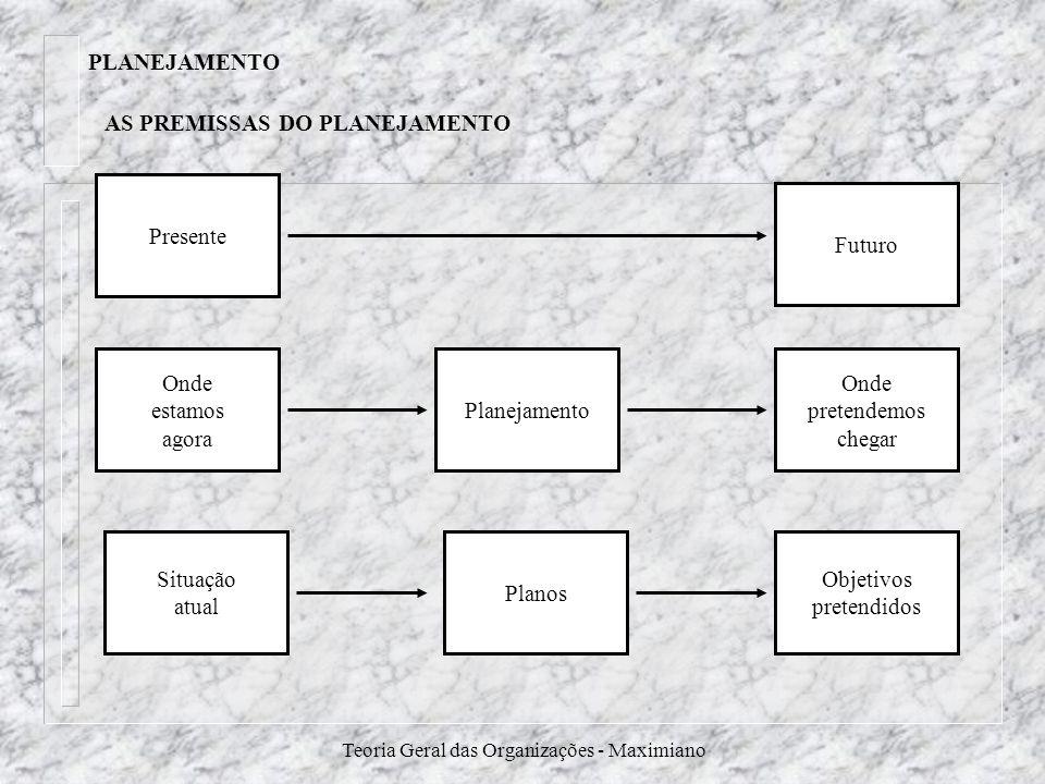 AS PREMISSAS DO PLANEJAMENTO