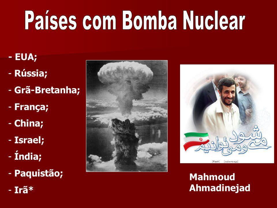 Países com Bomba Nuclear