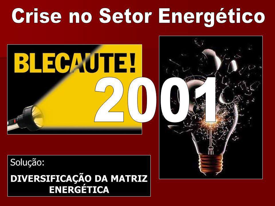 DIVERSIFICAÇÃO DA MATRIZ ENERGÉTICA