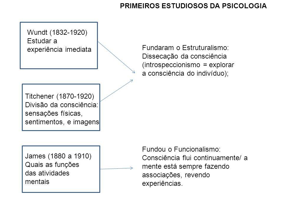 PRIMEIROS ESTUDIOSOS DA PSICOLOGIA