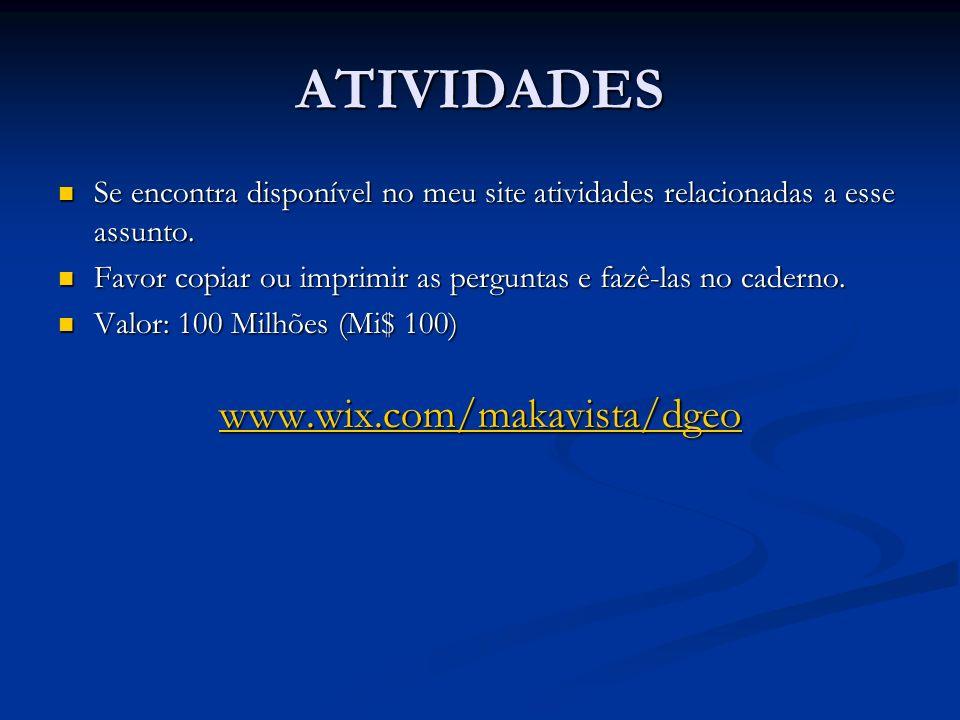 ATIVIDADES www.wix.com/makavista/dgeo