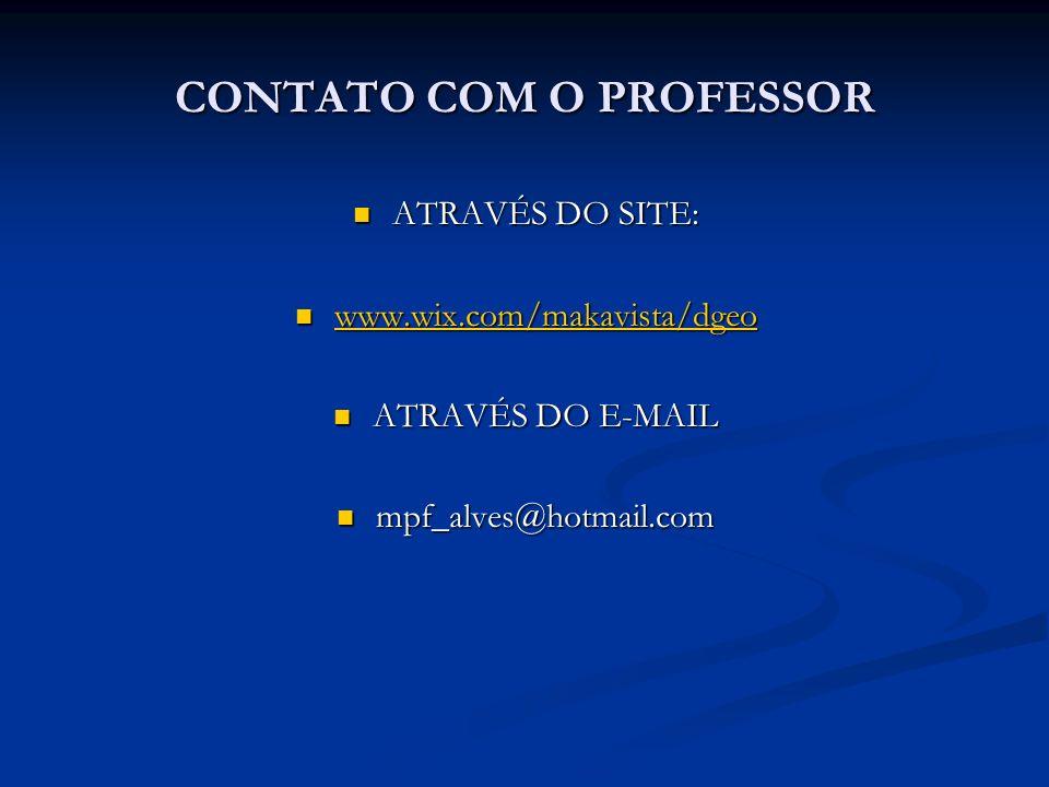 CONTATO COM O PROFESSOR