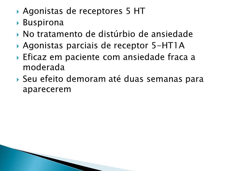 Agonistas de receptores 5 HT