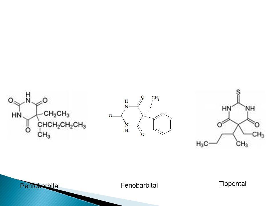 Tiopental Pentobarbital Fenobarbital