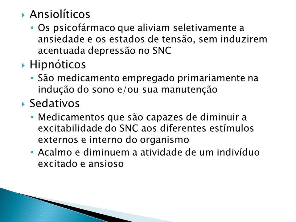 Ansiolíticos Hipnóticos Sedativos