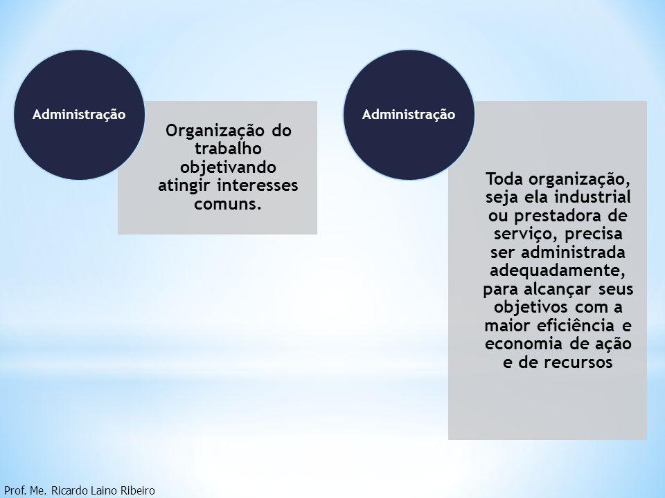 Organização do trabalho objetivando atingir interesses comuns.