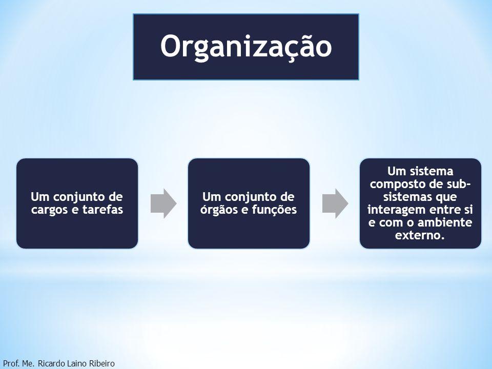 Um conjunto de cargos e tarefas Um conjunto de órgãos e funções