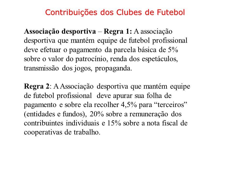 Contribuições dos Clubes de Futebol