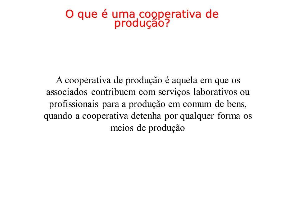 O que é uma cooperativa de produção