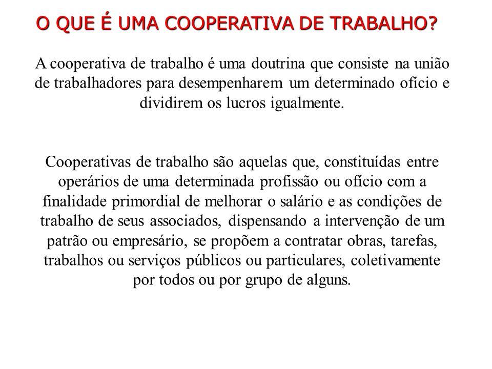 O QUE É UMA COOPERATIVA DE TRABALHO