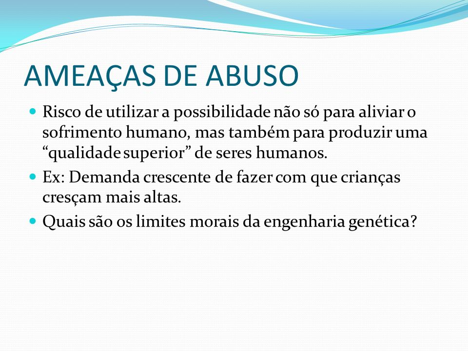 AMEAÇAS DE ABUSO