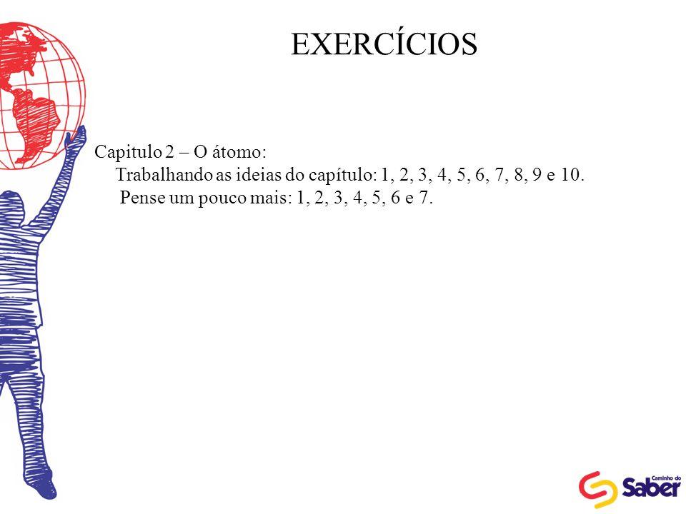 EXERCÍCIOS Capitulo 2 – O átomo:
