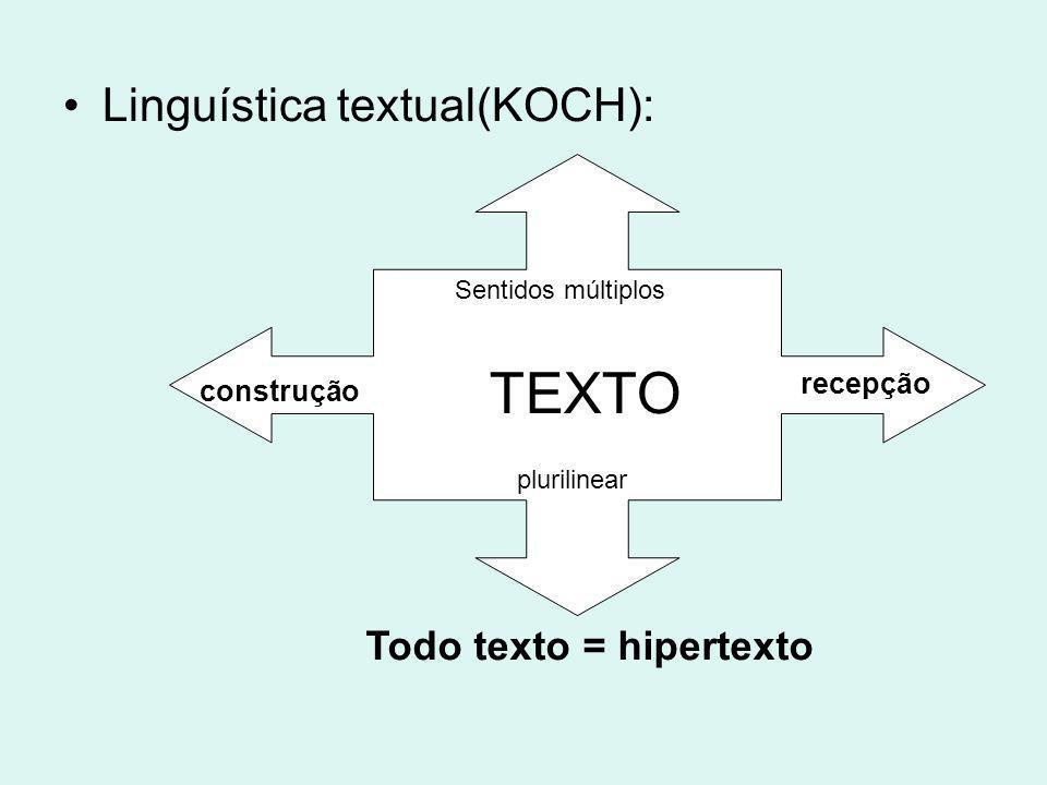 Todo texto = hipertexto