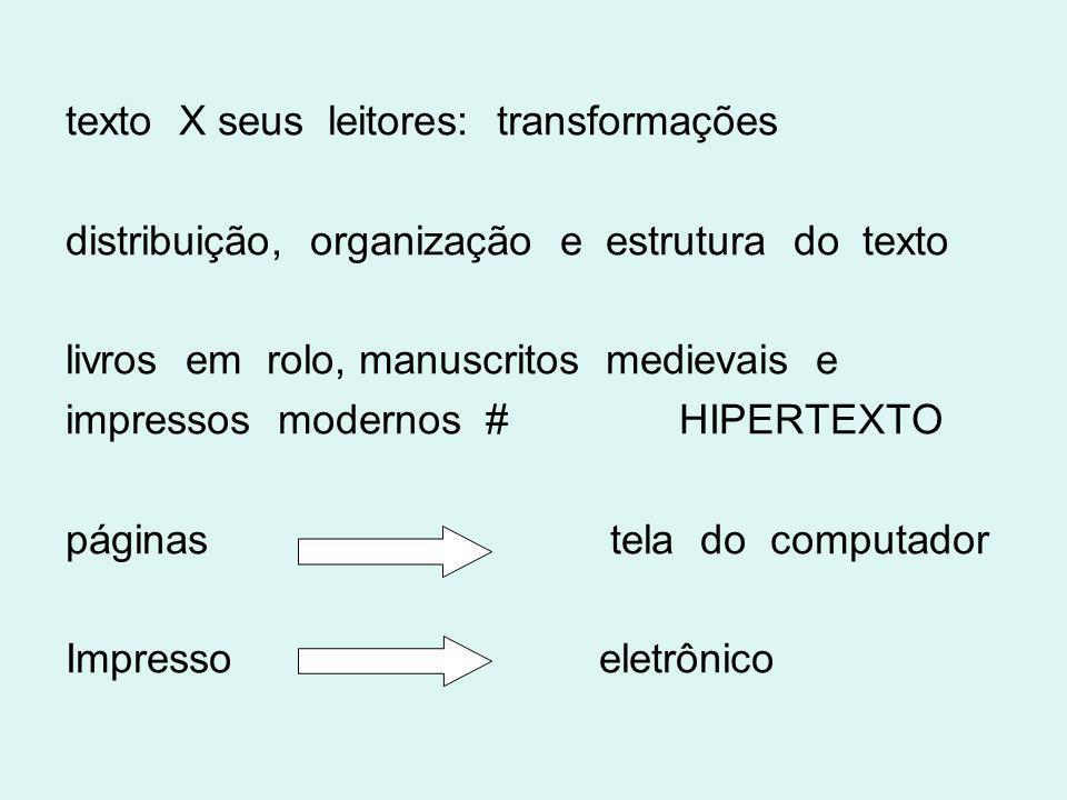 texto X seus leitores: transformações