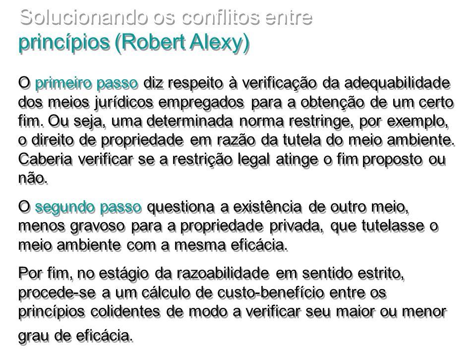 Solucionando os conflitos entre princípios (Robert Alexy)