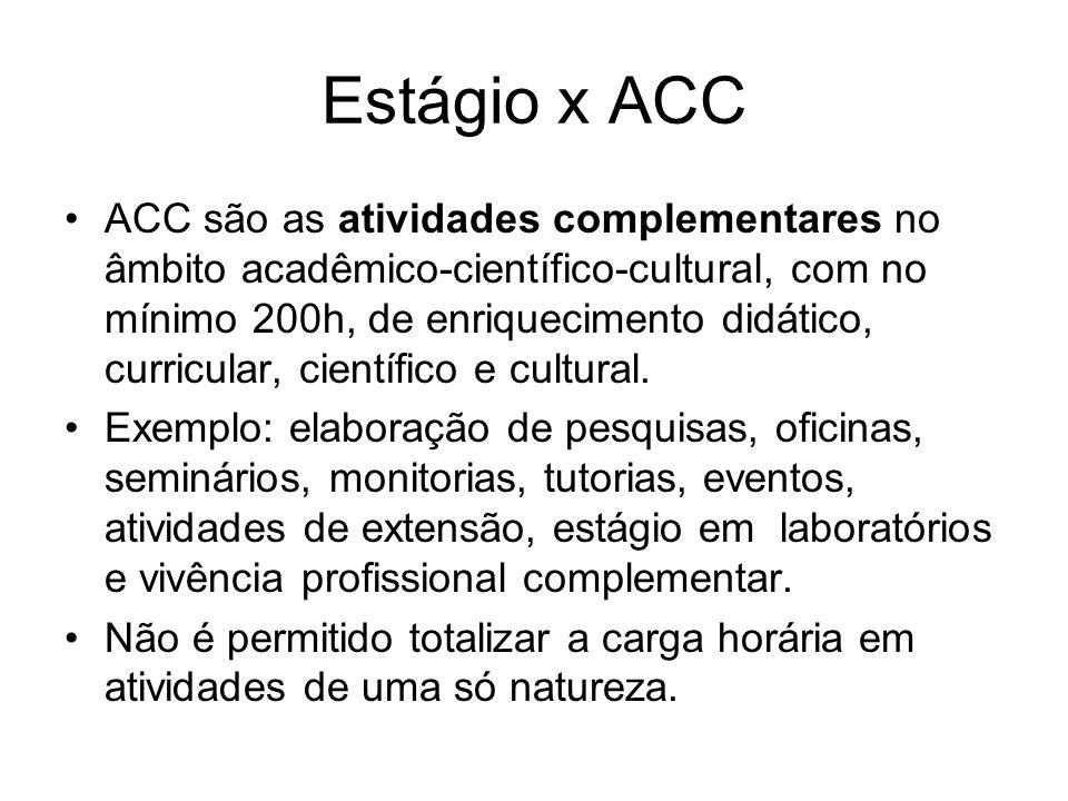 Estágio x ACC