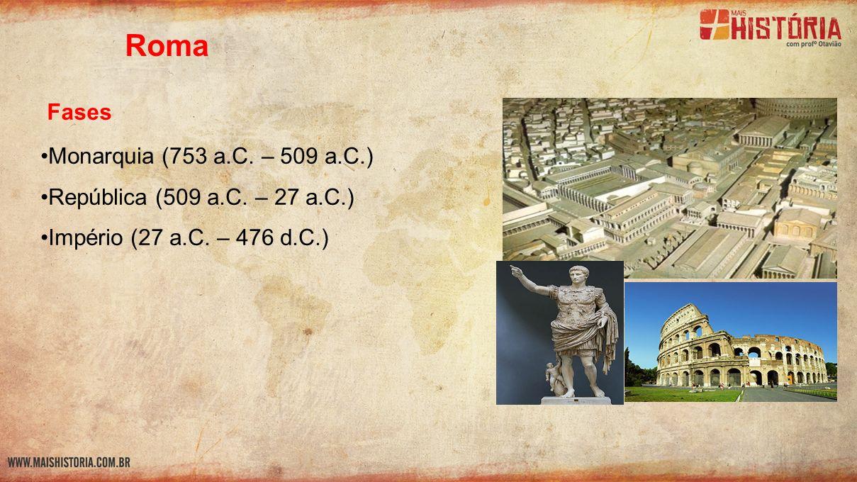 Roma Fases Monarquia (753 a.C. – 509 a.C.)