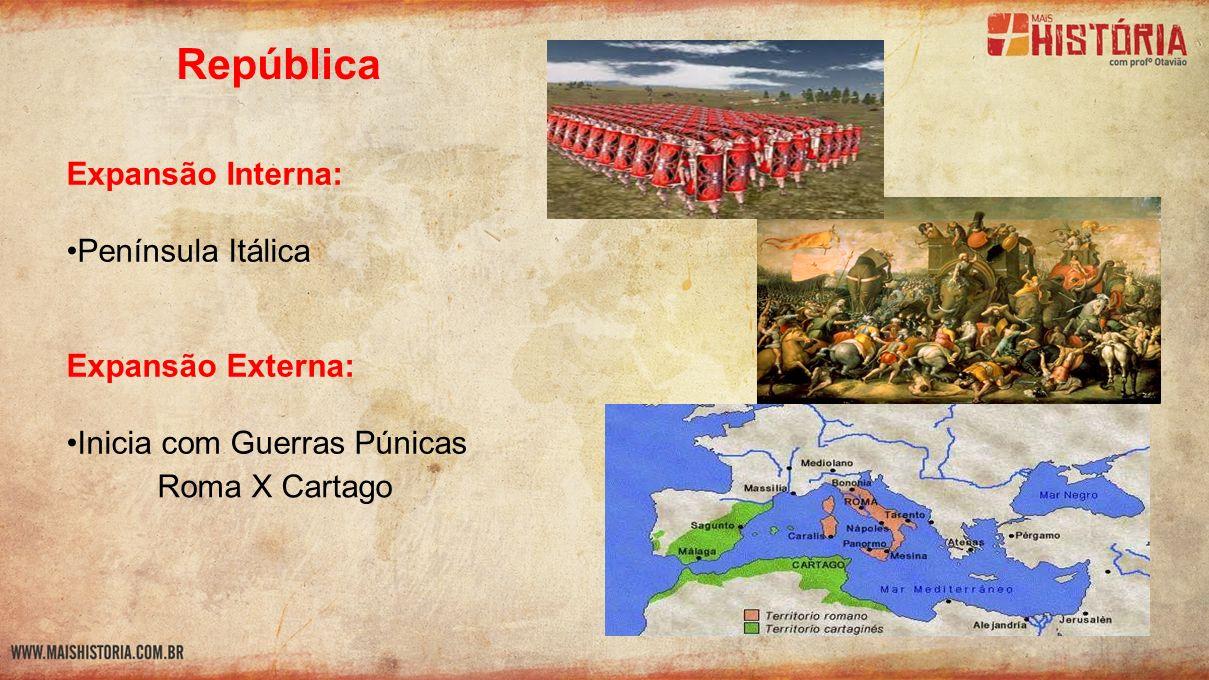 República Expansão Interna: Península Itálica Expansão Externa: