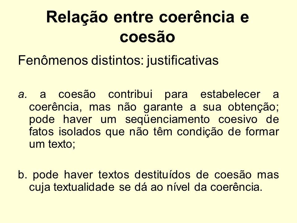 Relação entre coerência e coesão