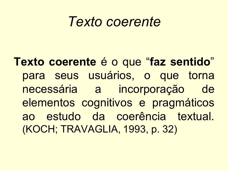 Texto coerente