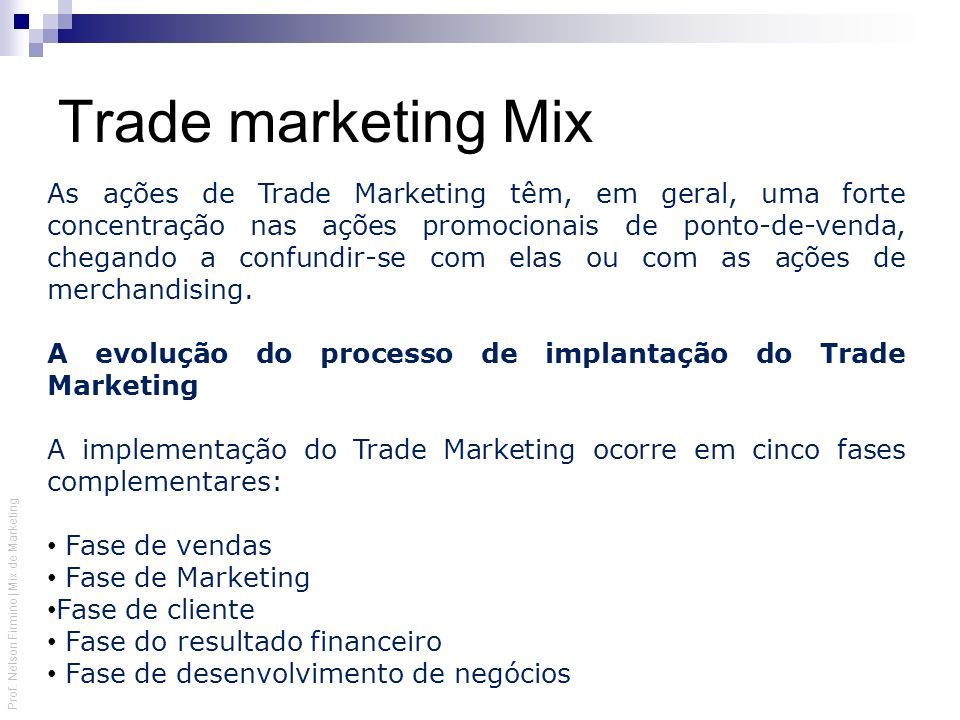 Trade marketing Mix