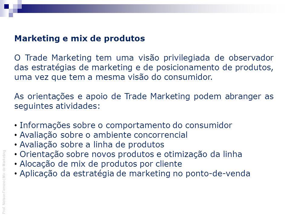 Marketing e mix de produtos