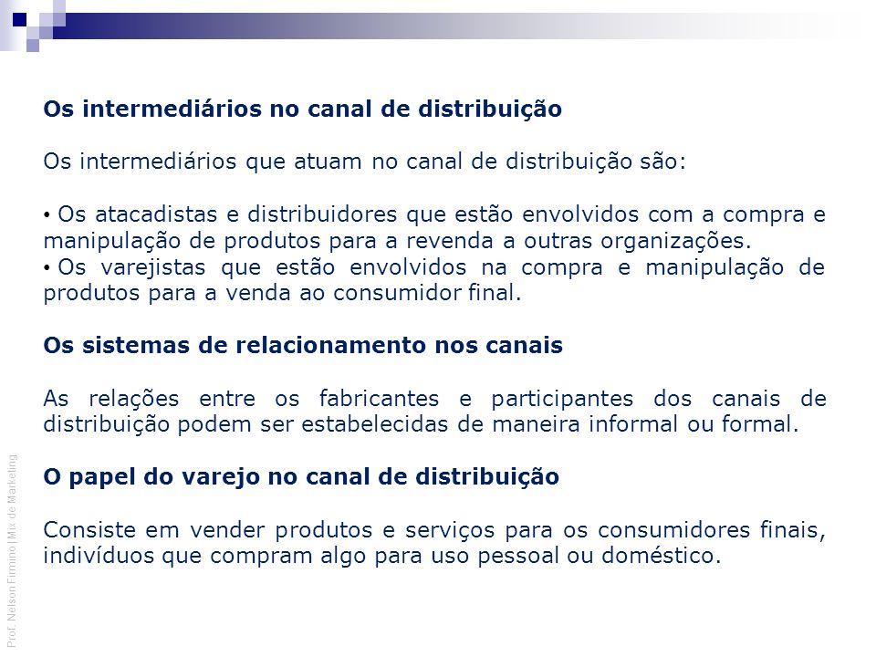 Os intermediários no canal de distribuição