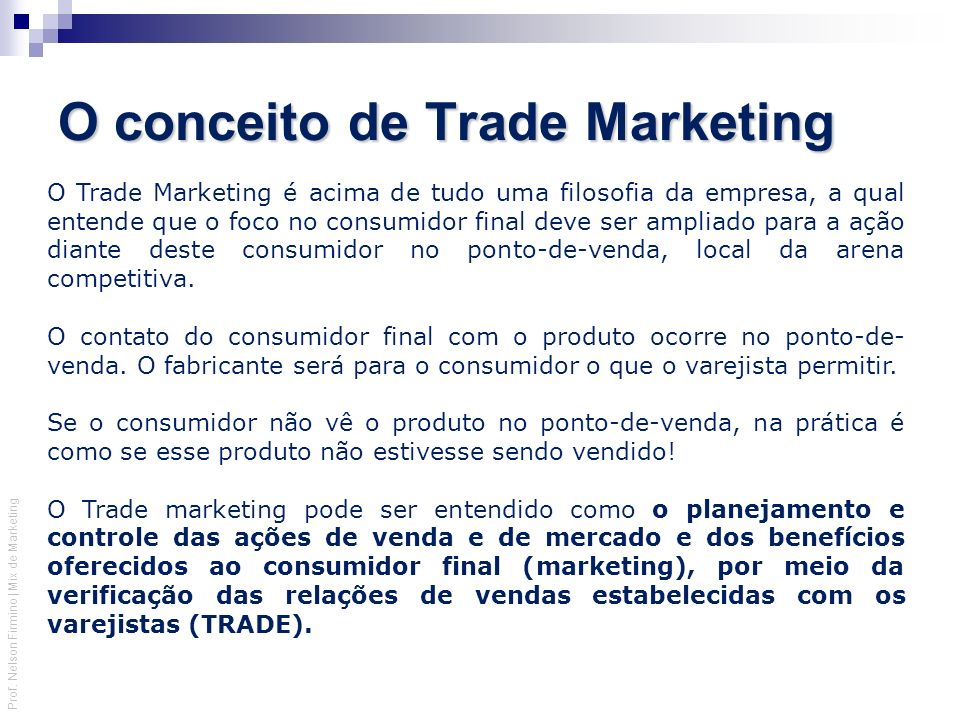 O conceito de Trade Marketing