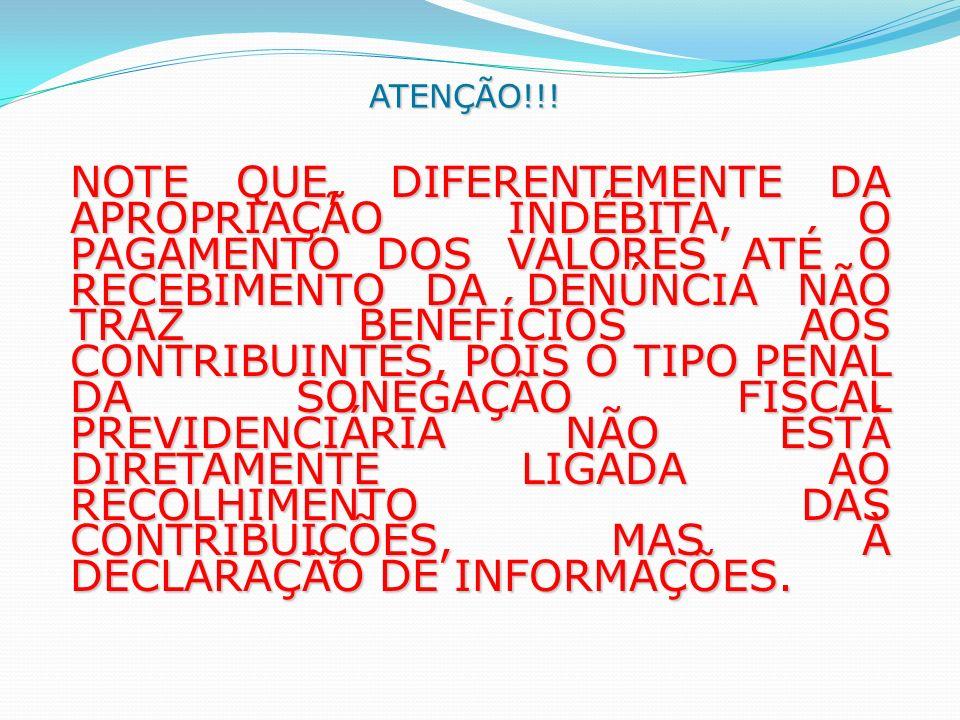 ATENÇÃO!!!