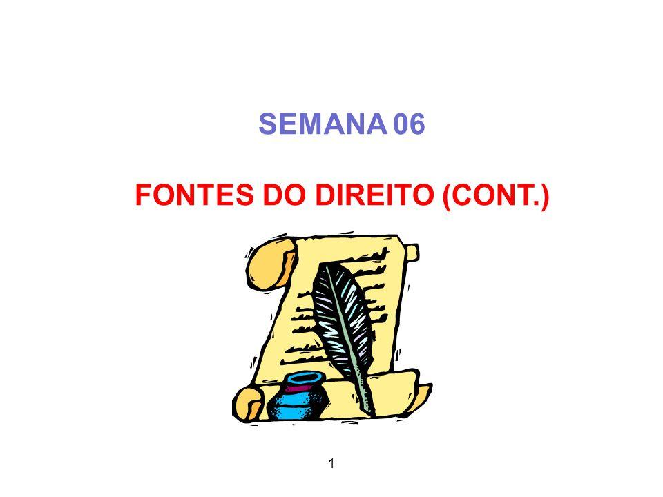 FONTES DO DIREITO (CONT.)