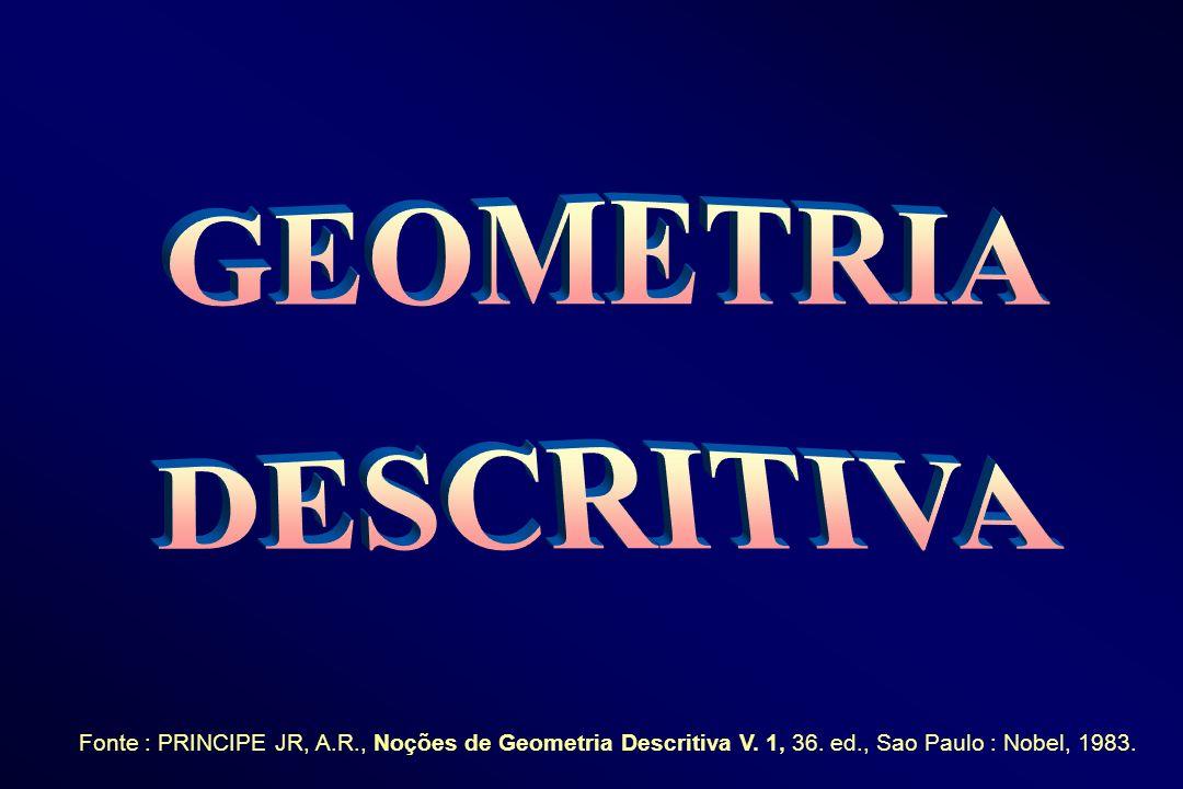GEOMETRIA DESCRITIVA. Fonte : PRINCIPE JR, A.R., Noções de Geometria Descritiva V.