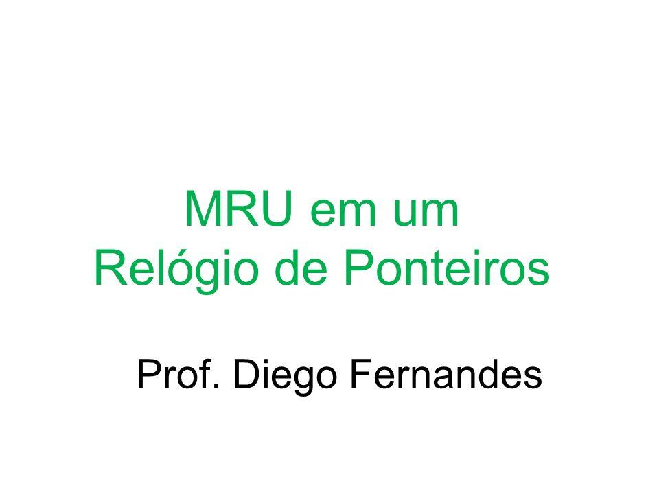 MRU em um Relógio de Ponteiros Prof. Diego Fernandes