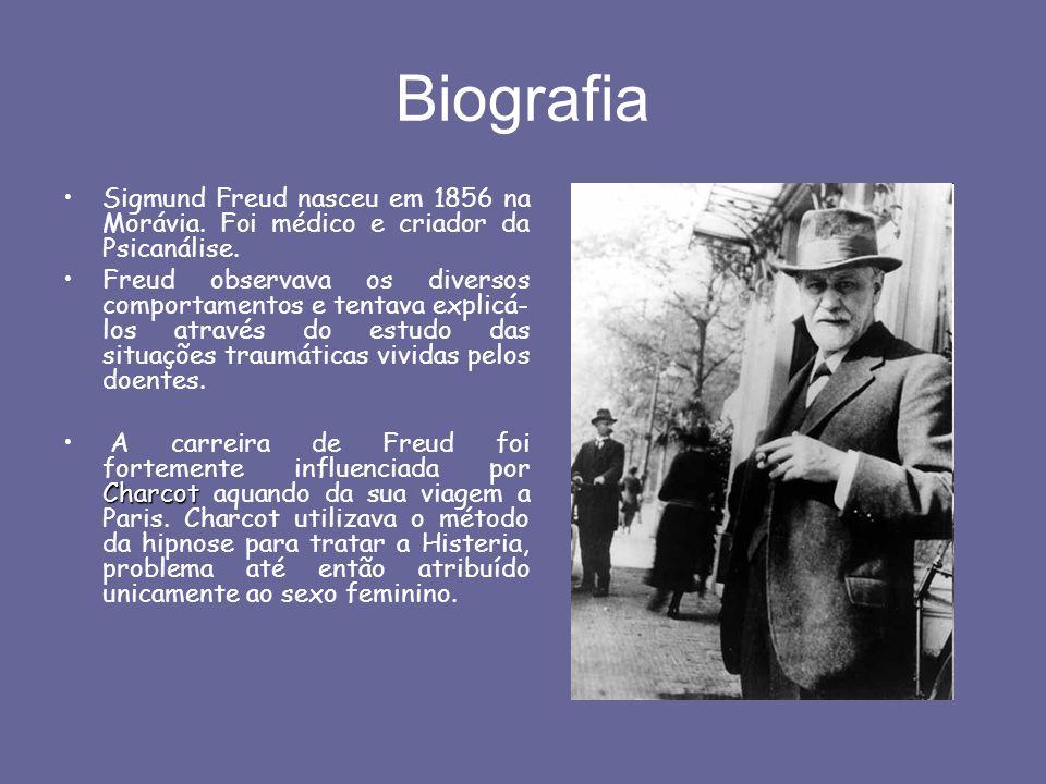 Biografia Sigmund Freud nasceu em 1856 na Morávia. Foi médico e criador da Psicanálise.