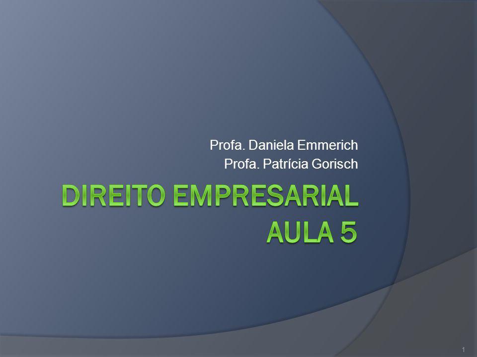 DIREITO EMPRESARIAL AULA 5