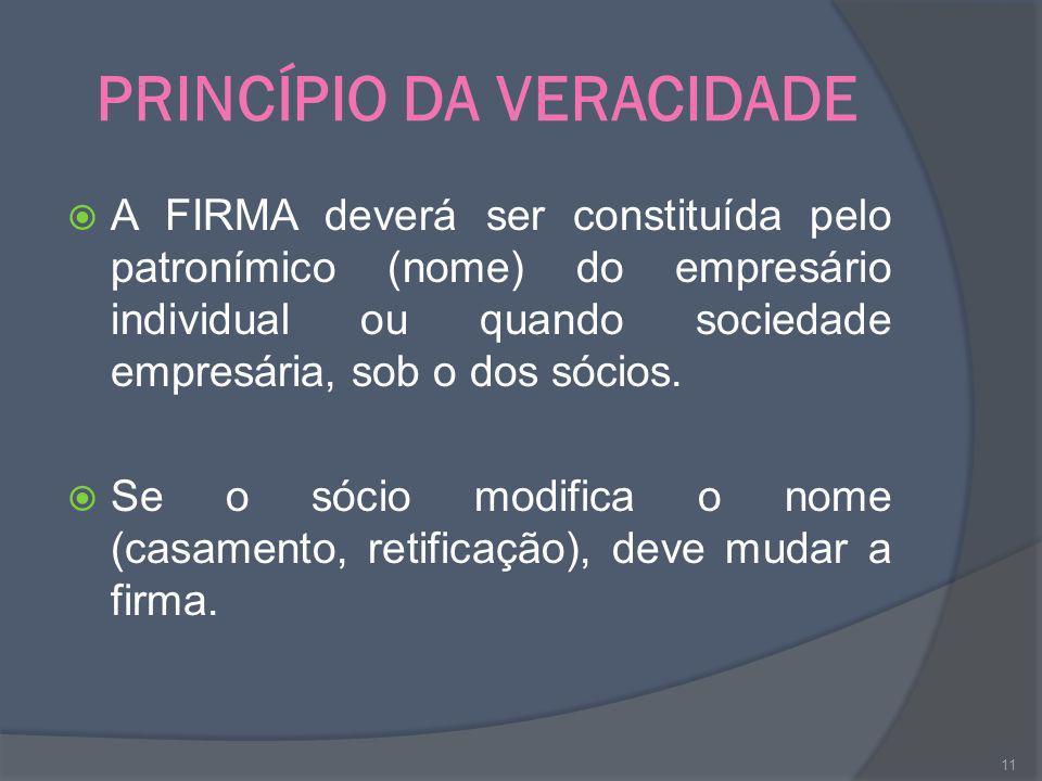PRINCÍPIO DA VERACIDADE