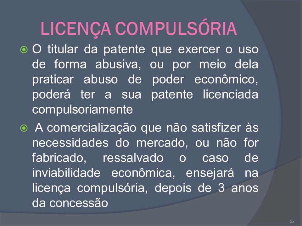 LICENÇA COMPULSÓRIA