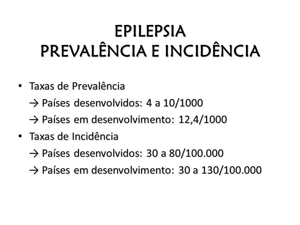 EPILEPSIA PREVALÊNCIA E INCIDÊNCIA