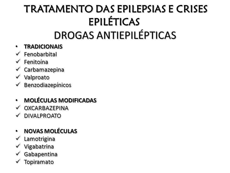 TRATAMENTO DAS EPILEPSIAS E CRISES EPILÉTICAS DROGAS ANTIEPILÉPTICAS