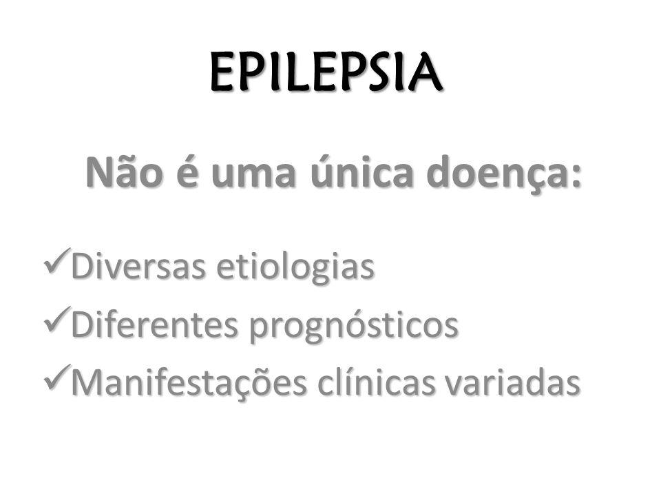 EPILEPSIA Não é uma única doença: Diversas etiologias