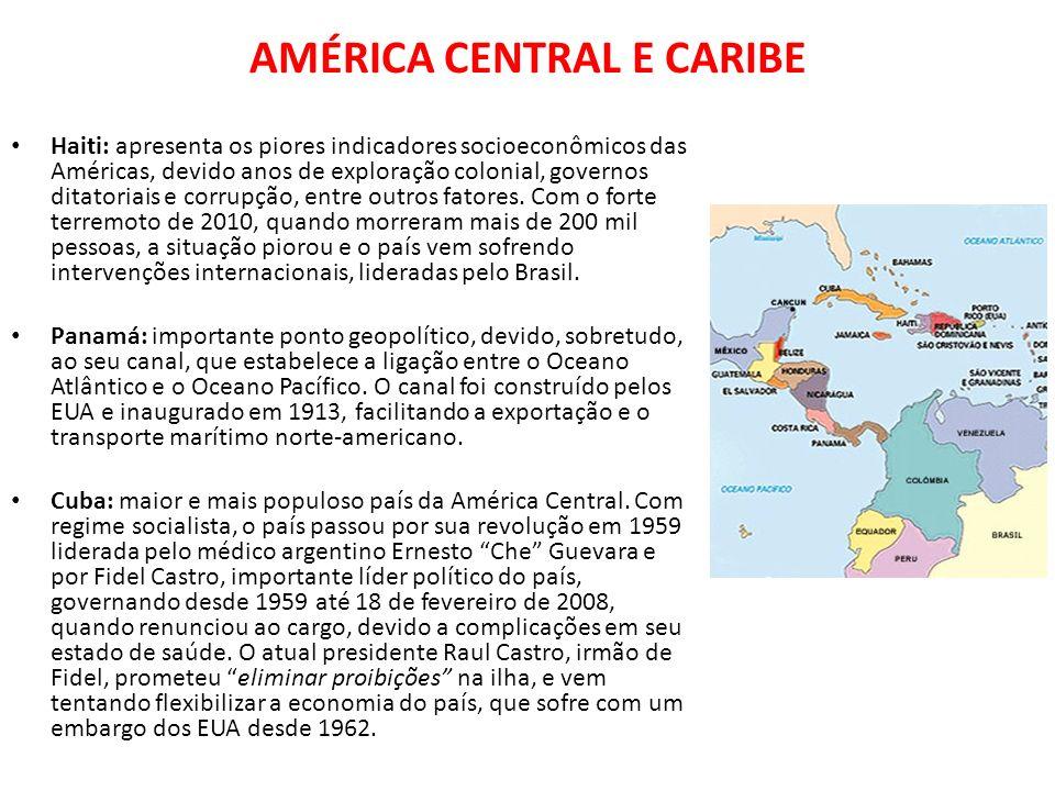 AMÉRICA CENTRAL E CARIBE