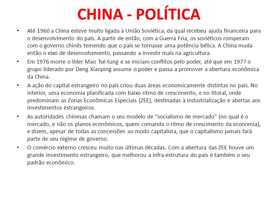 CHINA - POLÍTICA