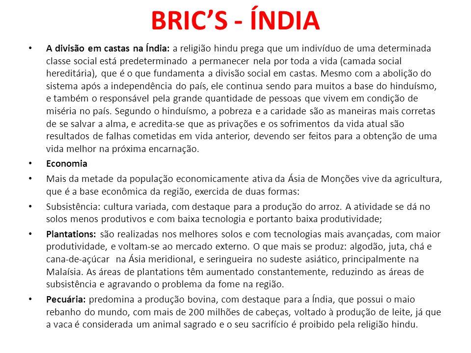 BRIC'S - ÍNDIA