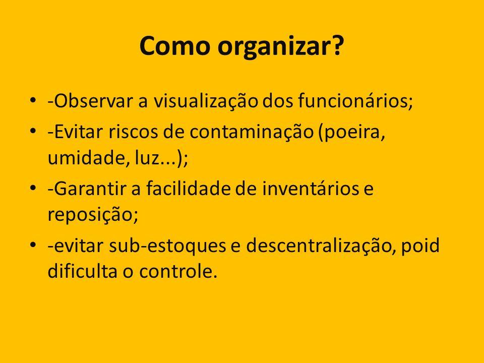 Como organizar -Observar a visualização dos funcionários;
