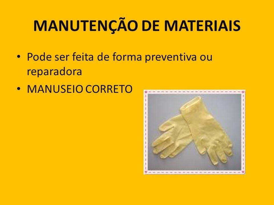 MANUTENÇÃO DE MATERIAIS