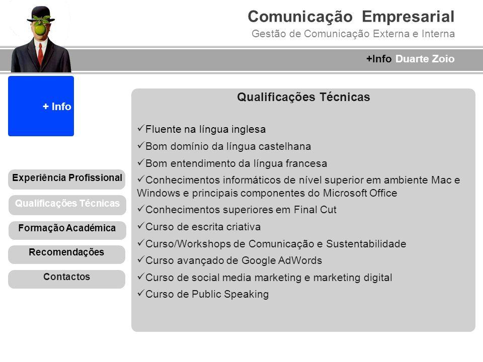 Qualificações Técnicas Experiência Profissional Qualificações Técnicas